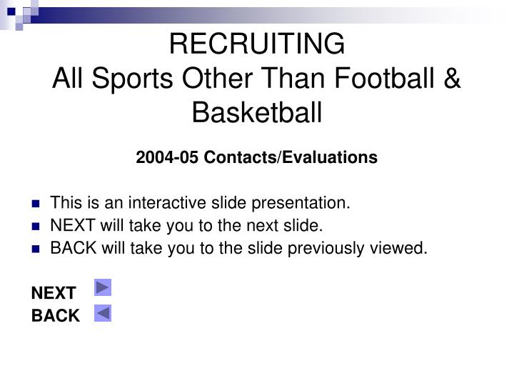 recruiting all sports other than football basketball n.