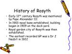 history of rosyth