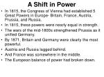 a shift in power
