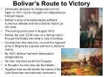 bolivar s route to victory