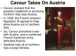 cavour takes on austria