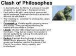 clash of philosophes
