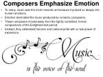 composers emphasize emotion