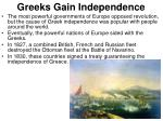 greeks gain independence