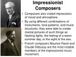 impressionist composers