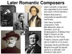 later romantic composers