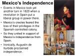mexico s independence