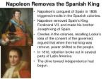 napoleon removes the spanish king