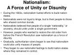 nationalism a force of unity or disunity