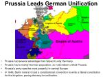 prussia leads german unification