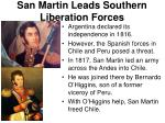 san martin leads southern liberation forces