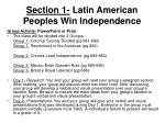 section 1 latin american peoples win independence