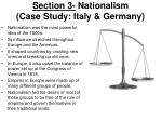 section 3 nationalism case study italy germany
