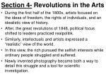 section 4 revolutions in the arts1