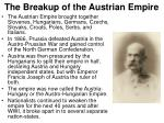 the breakup of the austrian empire