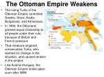 the ottoman empire weakens