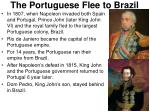 the portuguese flee to brazil