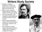 writers study society