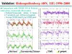 validation hohenpei enberg 48n 11e 1996 2000