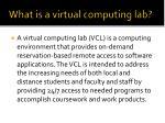 what is a virtual computing lab