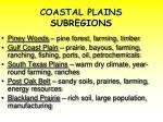 coastal plains subregions