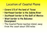 location of coastal plains