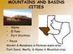 mountains and basins cities