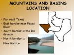 mountains and basins location