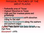 physical features of the great plains