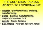 the gulf coast plains adapts to environment