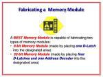 fabricating a memory module
