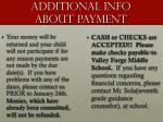 additional info about payment