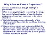 why adverse events important