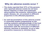 why do adverse events occur