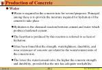 production of concrete5