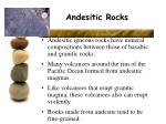 andesitic rocks