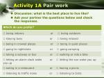 activity 1a pair work