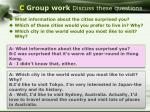 c group work discuss these questions