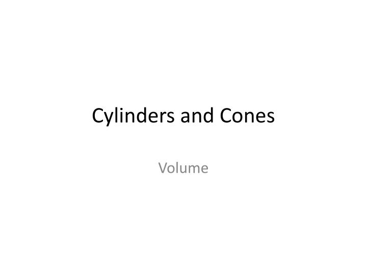 cylinders and cones n.