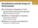 constitution and the scope of government