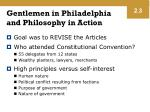 gentlemen in philadelphia and philosophy in action