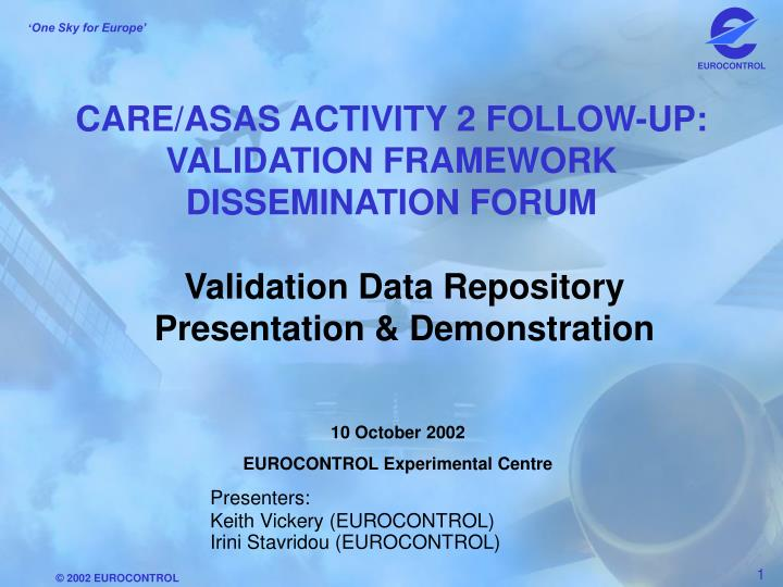 care asas activity 2 follow up validation framework dissemination forum n.