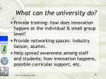 what can the university do