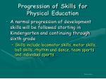 progression of skills for physical education