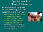 sportsmanship in physical education