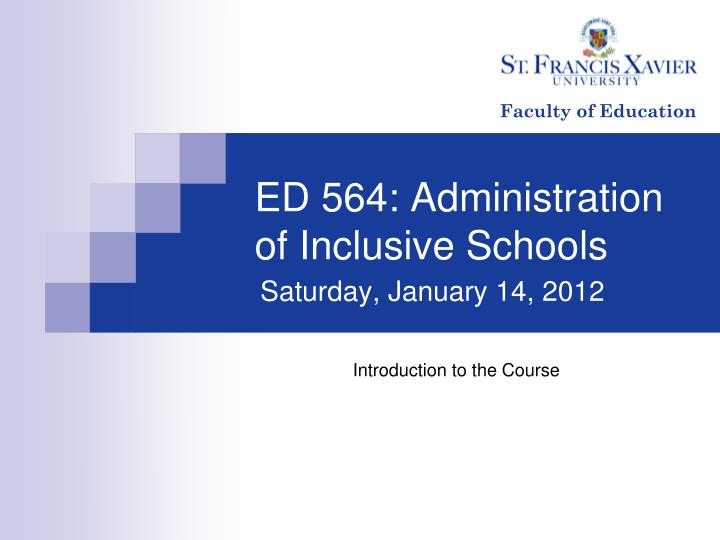 ed 564 administration of inclusive schools n.