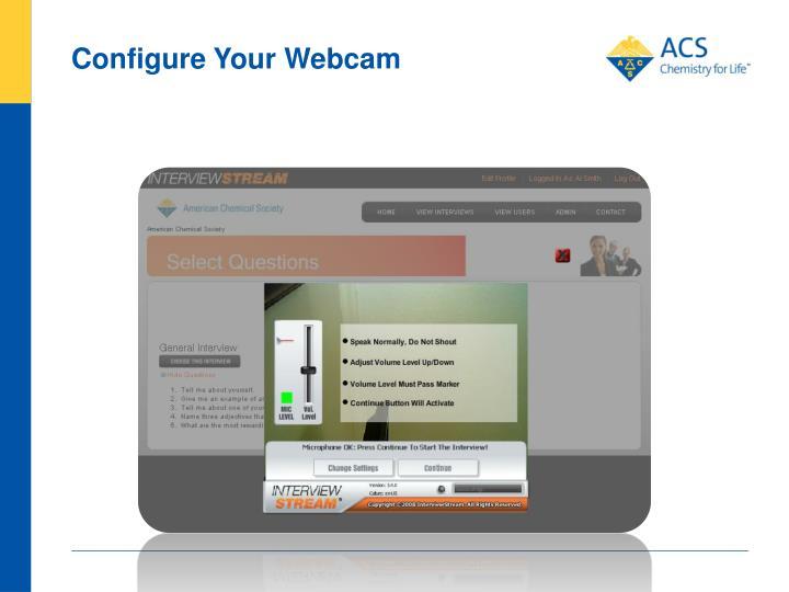 Configure Your Webcam