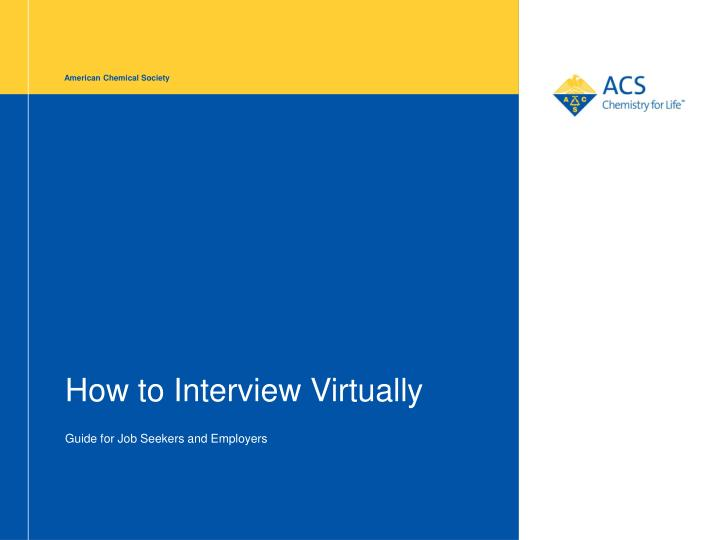 How to interview virtually
