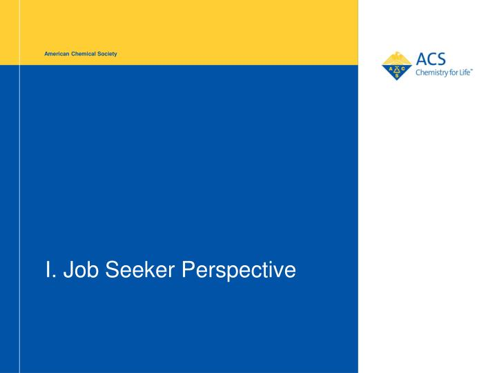 I job seeker perspective