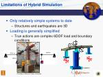 limitations of hybrid simulation
